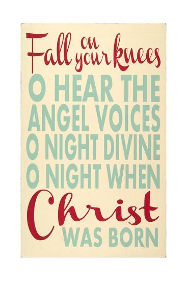 Fall on Your Knees-Erin Deranja-Art Print