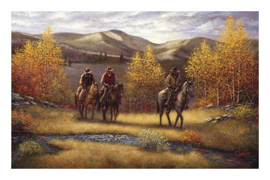 Fall Riders-Joe Sambataro-Art Print