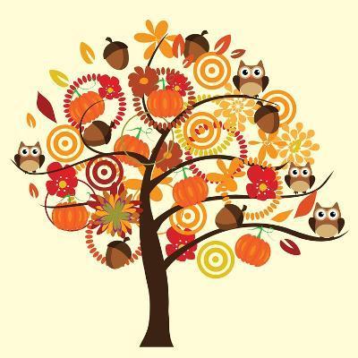 Fall Tree-relato-Art Print
