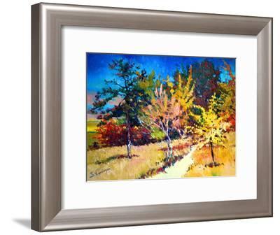 Fall Trees-Suren Nersisyan-Framed Art Print