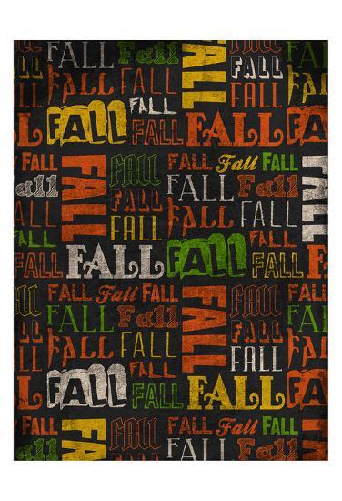 Fall Typo 2-Jace Grey-Art Print