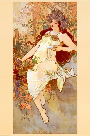 Fall-Alphonse Mucha-Art Print