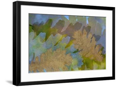Fallen Leaves Green Golden-Cora Niele-Framed Giclee Print