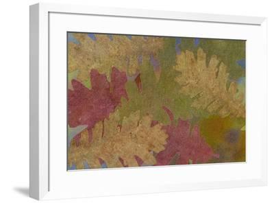 Fallen Leaves Red Golden-Cora Niele-Framed Giclee Print