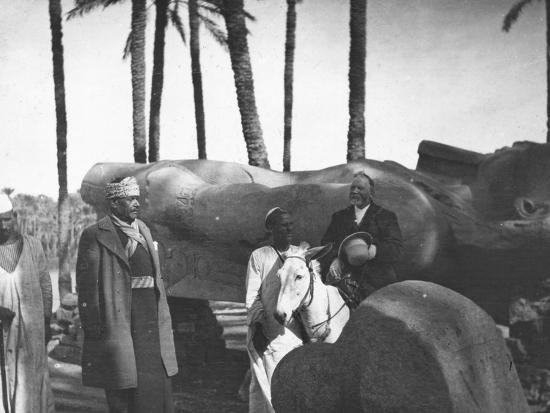 Fallen Monumental Statue of Rameses II, Memphis, Egypt, C1890-Newton & Co-Photographic Print