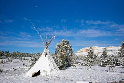Fallen Snow on a Teepee in Beartooth, Wyoming-Charlie James-Photographic Print