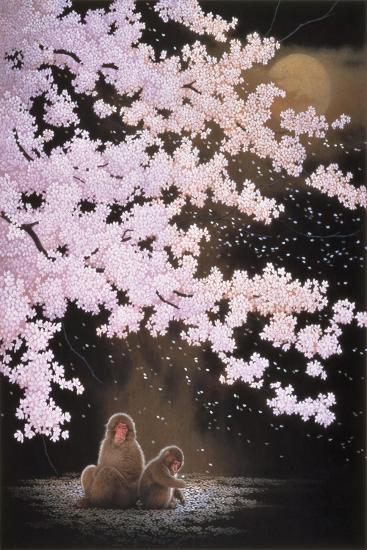 Falling Cherry Blossoms-Joh Naito-Giclee Print