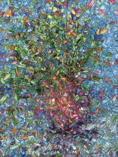 Falling Flowers-James W Johnson-Giclee Print
