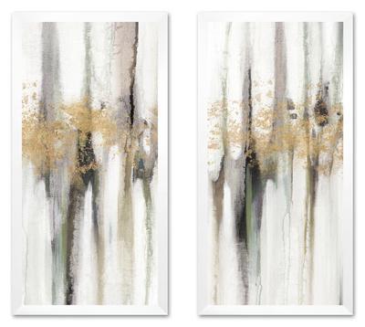 Falling Gold Leaf Framed Canvas Set