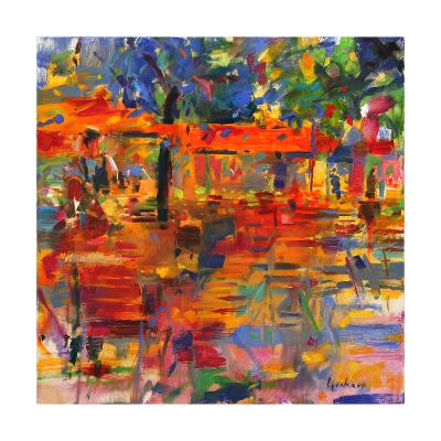 Falling Leaves, Paris-Peter Graham-Giclee Print