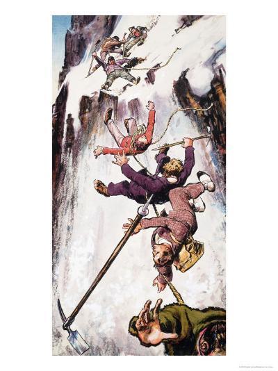 Falling Off the Matterhorn--Giclee Print