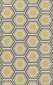 Fallon Honeycomb Area Rug - Gold/Chocolate 5' x 8'