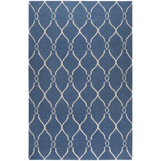Fallon Lattice Area Rug - Cobalt/Beige 5' x 8'--Home Accessories