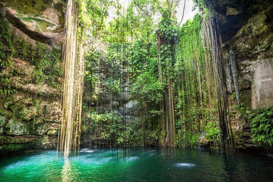 falls-near-chichen-itza-mexico