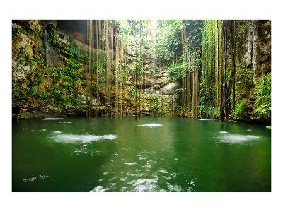 Falls Near Chichen Itza Mexico--Premium Giclee Print