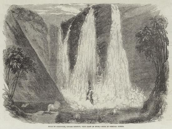 Falls of Garsuppah, Canara District, West Coast of India--Giclee Print