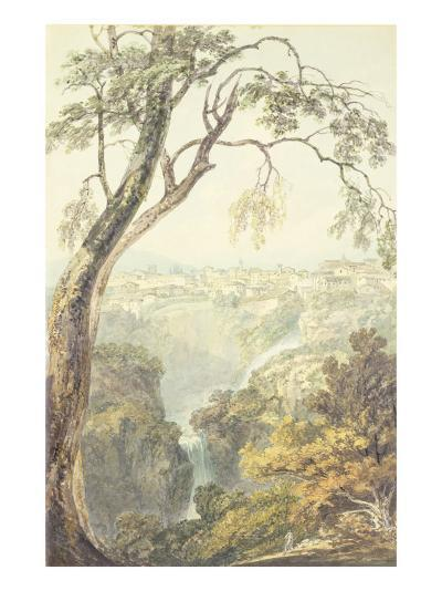 Falls of the Anio-J^ M^ W^ Turner-Giclee Print