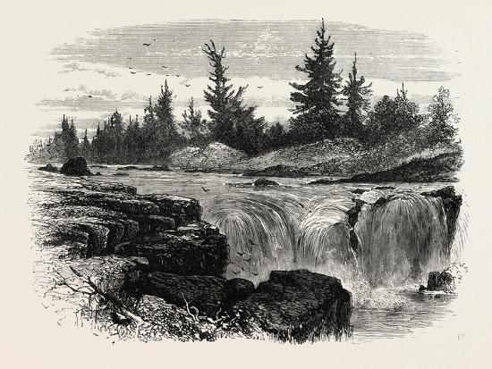 Falls of the Passaic, New Jersey, USA, 1870s--Giclee Print