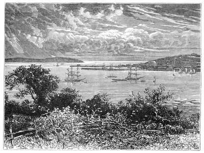 Falmouth Harbour, Cornwall, England, 1900--Giclee Print