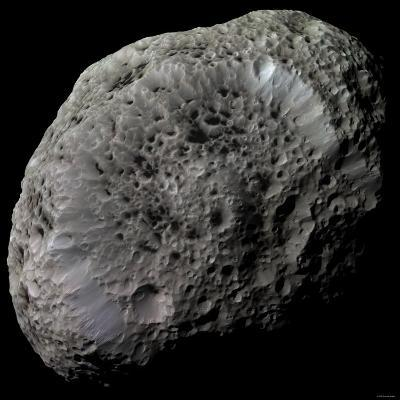 False-Color View of Saturn's Moon Hyperion-Stocktrek Images-Photographic Print