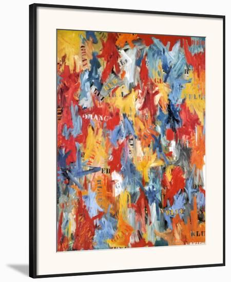 False Start, 1959-Jasper Johns-Framed Art Print
