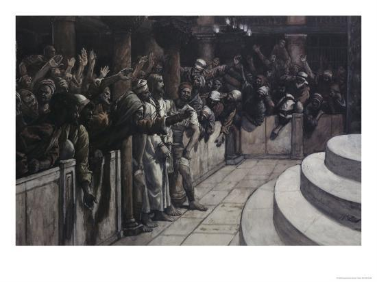 False Witness Before Caiaphas-James Tissot-Giclee Print