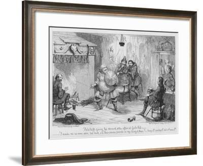 Falstaff Giving His Account of the Affair at Gadshill-George Cruikshank-Framed Giclee Print