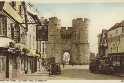 Falstaff Hotel and the Westgate, Canterbury, Kent--Photographic Print