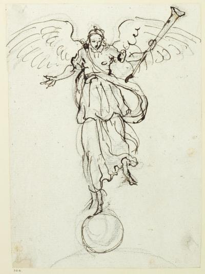 Fame, Preliminary Sketch, C.1631-Inigo Jones-Giclee Print