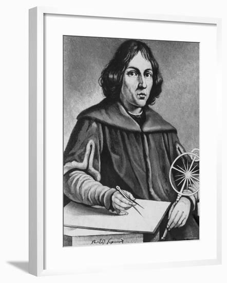 Famed Polish Astronomer Nicolaus Copernicus--Framed Photographic Print