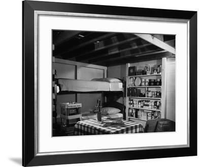 Family Basement Fallout Shelter--Framed Photo