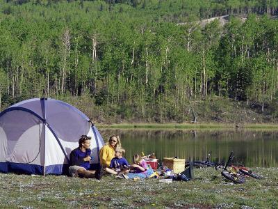 Family Camping--Photographic Print