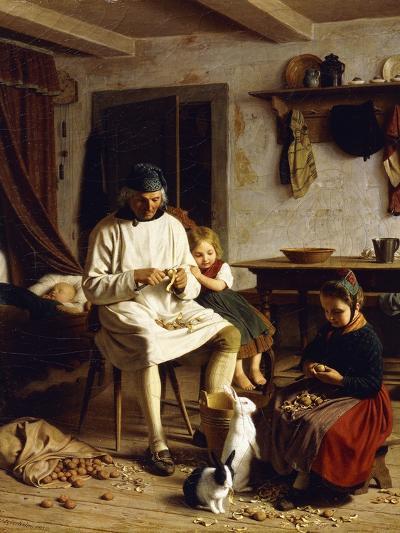 Family Chores, 1859-Friedrich Edouard Meyerheim-Giclee Print