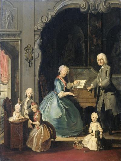 Family Group Near a Harpsichord, 1739-Cornelis Troost-Giclee Print