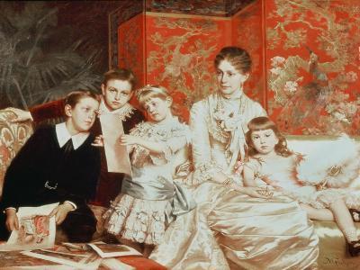 Family Group-Michele Gordigiani-Giclee Print