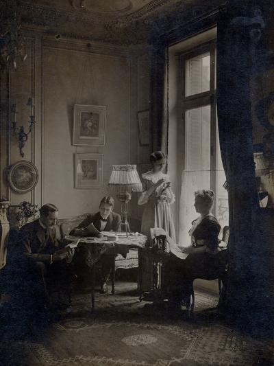 Family in an Interior, C.1900--Photographic Print