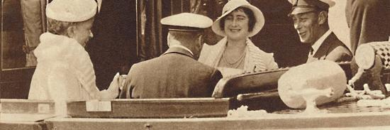 'Family Joke' - leaving the Royal Yacht Albert and Victoria at Cowes, c1935 (1937)-Unknown-Photographic Print
