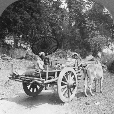 Family Journeying Through the Jungle Near Mingun, Burma, 1908--Photographic Print