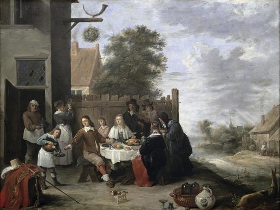 Family Meal-Jan Havicksz^ Steen-Giclee Print