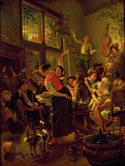 Family Meal-Jan Havicksz Steen-Giclee Print