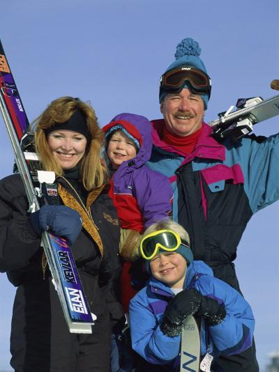 Family of Skiers--Photographic Print