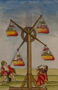 Family on a Ferris-Wheel, from the Boileau Album, Madras, India, c.1785