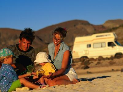 Family Playing on Beach, Cabo San Lucas, Mexico-Philip & Karen Smith-Photographic Print
