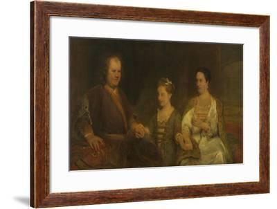 Family Portrait of Hermanus Boerhaave-Aert de Gelder-Framed Art Print