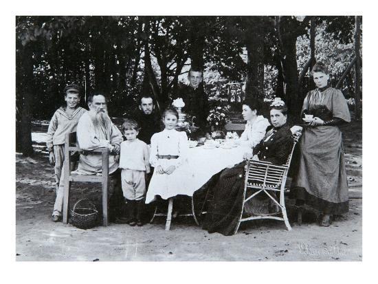 Family Portrait of the Author Leo N. Tolstoy, from the Studio of Scherer, Nabholz and Co.-Russian Photographer-Giclee Print