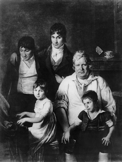 Family Portrait-Jacques Louis David-Giclee Print