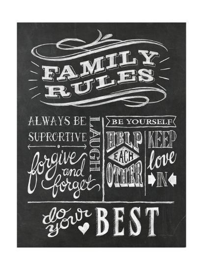 Family Rules I v2-Mary Urban-Art Print