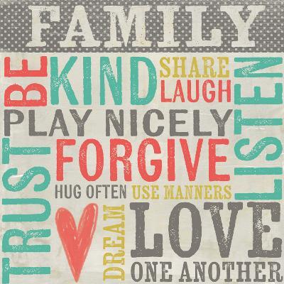 Family Rules-Katie Doucette-Art Print