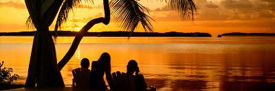Family Silhouette at Sunset - Florida-Philippe Hugonnard-Photographic Print