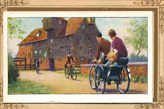 'Family Tandem with Side-Car', 1939-Unknown-Giclee Print